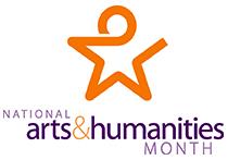 National Arts & Humanitites Month logo
